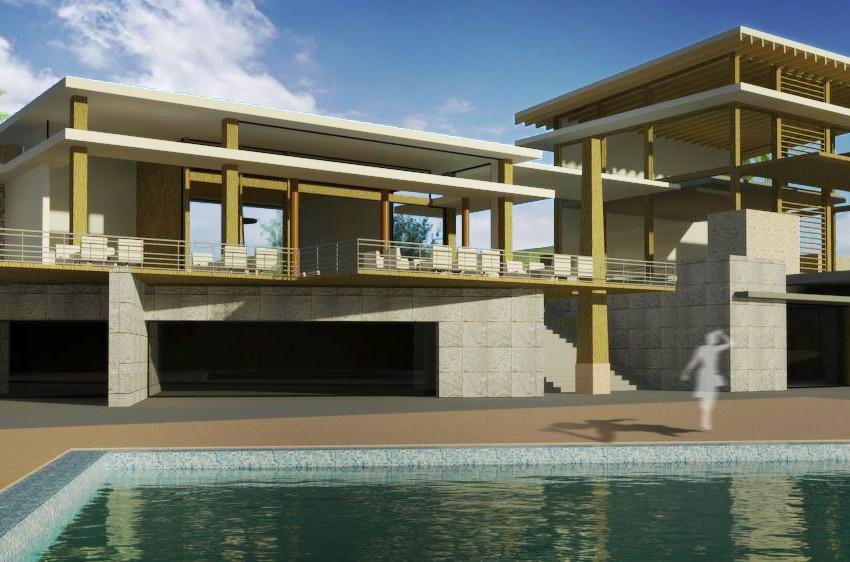 Casa Club VE - Propuesta 01 - vista desde piscina